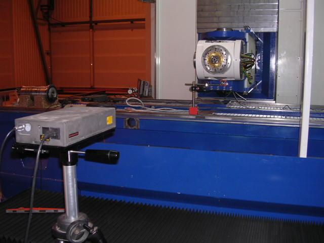 Géométrie machine avec Interféromètre laser