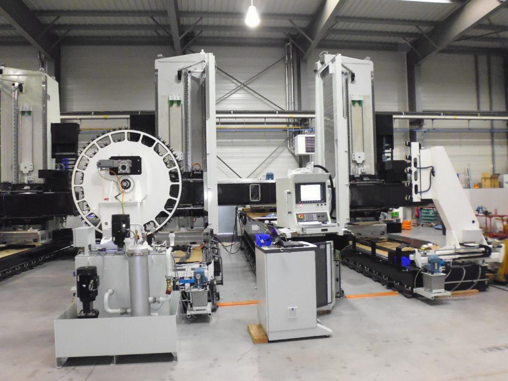Montage de machine d'usinage Dufieux pour Dassault